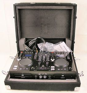 DJ Mixer Edison Scratch 2500 Professional Portable Dual CD USB  Player Stand