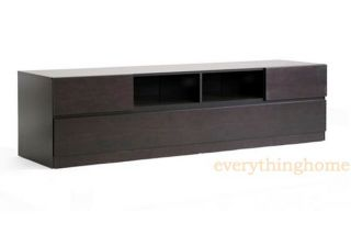 Modern Dark Brown Wood LED LCD Plasma DLP TV Stand Credenza Media Cabinet