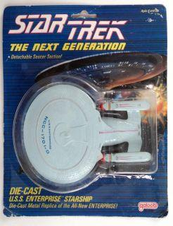 80's Star Trek USS Enterprise Die Cast w Detachable Saucer Galoob