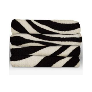 Sunbeam Microplush Electric Heated Throw Blanket Zebra Pattern
