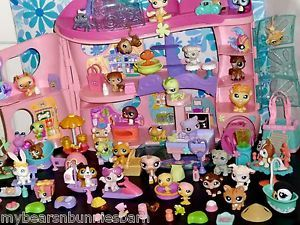 Littlest Pet Shop Cozy Care Adoption Center Biggest Collie Husky Persian Big Lot