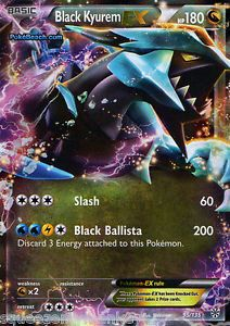 Pokemon Card Plasma Storm Ultra RARE Holo Black Kyurem EX Mint