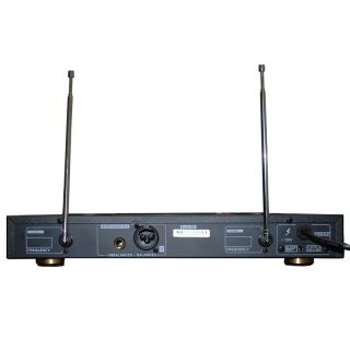 AWM 6112 VHF Dual Channel Recharge Wireless Microphone System