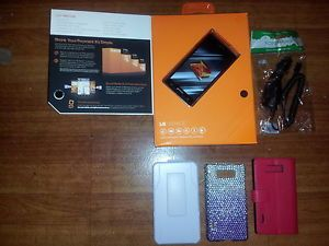 LG Venice 730   4GB   Black (Boost Mobile) Smartphone with accessories