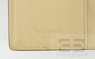 Kate Spade Beige PEBBLED Leather Personal Organizer