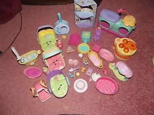 Littlest Pet Shop LPS Accessories Some RARE Bed Hats Bath Tub Food Toys Clothes