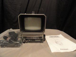 1985 Panasonic Portable TV Am FM Radio Model TR 5046P