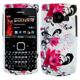 Red Lotus Flowers Hard Case Cover for T Mobile Nokia x Series X2 X2 01 Accessory