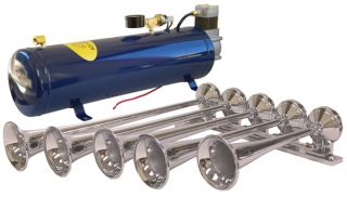 Omega Research AH500F 5 Trumpet Train Horn with 150 PSI Onboard Air System