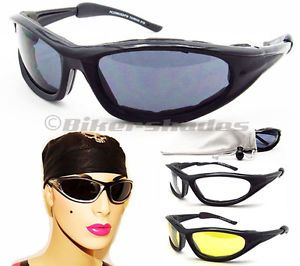 Women Lady Girl Foam Motorcycle Safety Polycarbonate Glasses Sunglasses Goggles