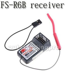 FS R6B Flysky 2 4G 6CH Receiver RC CT6B TH9X RC Airplane Helicopter