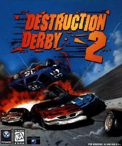 Destruction Derby 2 PC CD Race Dirt Track Demolition Stock Car Racing Racer Game