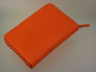 Kate Spade Wellesley 2013 Coral Zip Around Personal Planner Organizer Orange