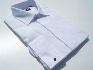 New Page Boys White Wedding Dress Turndown Collar Prom Party Christening Shirt