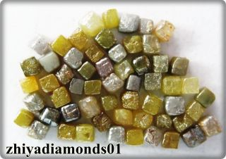0 87 Ct Lot 1 50 2 00 mm Natural Loose Diamond Congo Cubes Untreated Mix Color