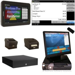 1 Station Touchscreen Restaurant POS System w Android Tablet Cash Register