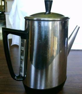 Vintage General Electric GE Percolator Coffee Pot 10 Cup Adjustable Brew 11P33