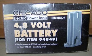 Chicago Electric Tools 4 8V Ni CD Caulking Gun Battery