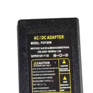 AC100V 240V to DC12V 6A 72W Switching Power Supply Adapter for LED Strip Light