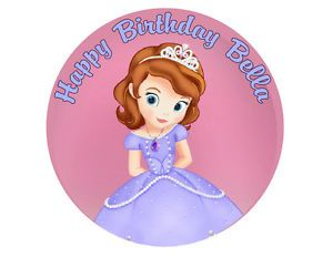 Sofia The First Princess Round Edible Cake Topper Cake Image Frosting Sheet