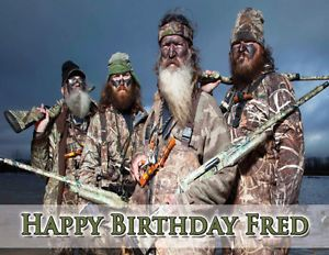Duck Dynasty Edible Image Cake Topper Personalized Custom Picture