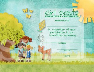 girl scout daisy investiture invitation girl scout daisy investiture ...