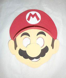Super Mario Bros Party Masks Favors Luigi Yoshi Peach Inspired