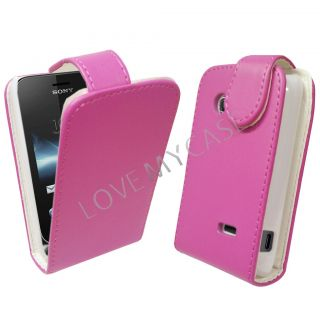 Sony Xperia Tipo ST21I Tapioca Stylish Pink PU Leather Flip Case New