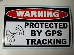 Warning GPS Tracking Device Security Sticker Decal Construction Equipment 787
