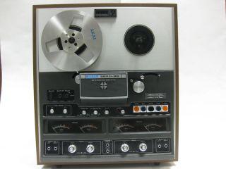 Vintage Reel to Reel Tape Recorder Akai 280DSS Tape Recording Equipment