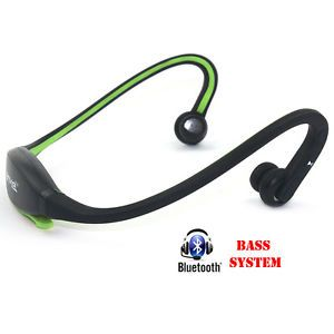 HQ Bluetooth Wireless Stereo Headphones Headset Handsfree Ideal for Jogging Gym