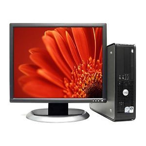 Fast Refurbished Dell Desktop PC Computer Core 2 Duo Windows 7 LCD Monitor
