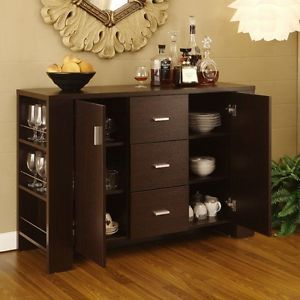 Modern Buffet Table Server Liquor Cabinet Wine Storage Rack Dining Furniture