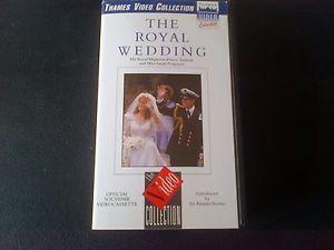 The Royal Wedding Prince Andrew Sarah Ferguson Thames Video Collection VHS