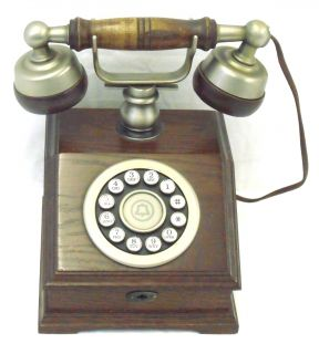 Antique Style Western Electric Phone Company Wood Phone