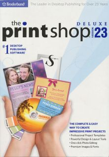 The Printshop 23 Deluxe 1 Desktop Publishing Software Print Shop Brand New
