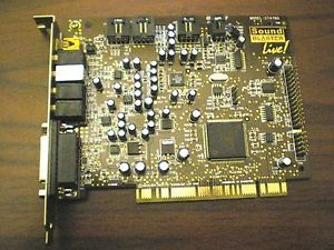 Creative Labs Sound Blaster Live Internal Desktop PCI Sound Card
