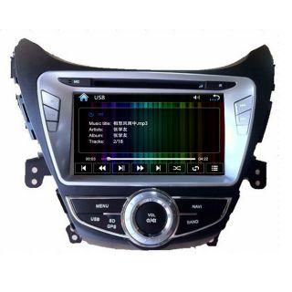 Car GPS Navigation Double DIN TFT TV DVD Player Radio for 11 12 Hyundai Elantra