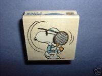 Peanuts Rubber Stamps Snoopy Tennis Ace Stamp