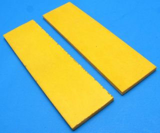 Pair of Synthetic Yellow Fixed Folding Blade Knife Making Handle Scale 2 Slabs