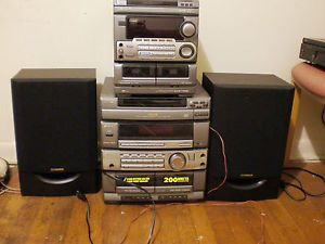 2 Aiwa Stereo Systems w 100W Fisher Speakers