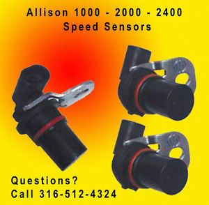 Allison LCT 1000 2000 2400 Transmission Speed Sensors Duramax Diesel 3 Pack