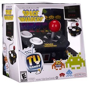 Retro Arcade Space Invaders Plug Play TV Video Game 10 Games Included New