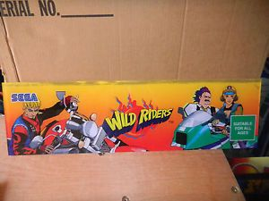 Wild Riders Sega Arcade Video Game Sign Marquee SHFL1