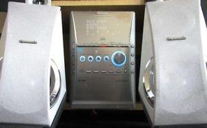 Panasonic SC PM41 5 CD Am FM Stereo Shelf System Tuner 40 Watts x 2 Great Sound