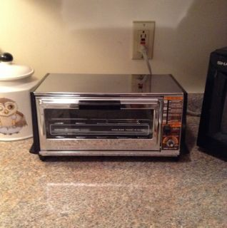 Vintage 1970s General Electric Toast R Oven Toaster Oven Clean Working w Pans