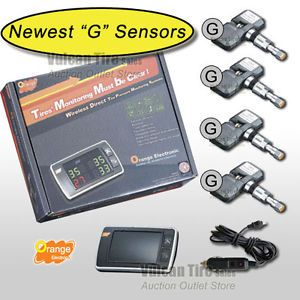 Orange P409S Universal TPMS Tire Pressure Monitor 4 Sensors New Warranty