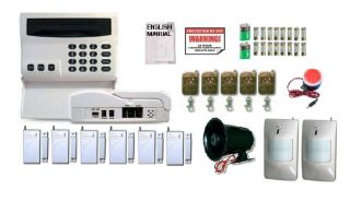 Wireless Home Security System House Alarm Auto Dialer ZAA 2 Sirens Very Loud