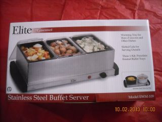 Gourmet Stainless Steel Buffet Server Warming Tray