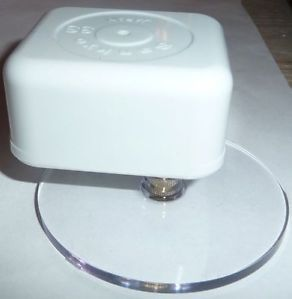 """Clear Plastic Turntables for Musical Movements 1 2"""" Stem Various Sizes Select 1"""